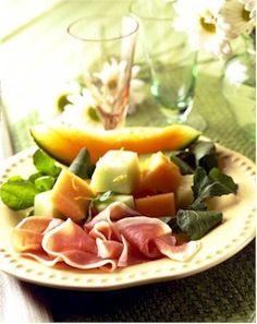 Prosciutto de Parma® and Melon with Arugula : Recipe - GourmetSleuth