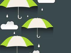 Creative umbrella clouds vector