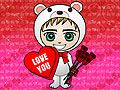 What's cuter than a Zwinky in a polar bear suit? One with Valentine's Day hearts and roses! - more free ecards at MyFunCards.com