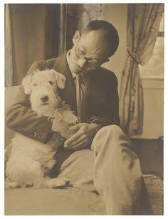 Yasuo Kuniyoshi and a terrier | Flickr - Photo Sharing!