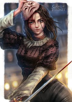 Arya Stark : Game of Thrones, SpiderWee . on ArtStation at https://www.artstation.com/artwork/E8YWq - More at https://pinterest.com/supergirlsart #got #female #fantasy #art