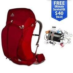Gregory Z 55 2014 Spark Red - Medium is a lightweight bagpack that offers a host of technical features designed to improve your comfort.