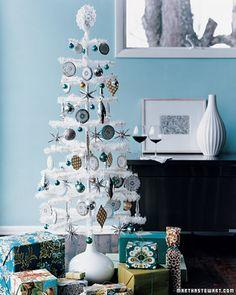 white tree - love the blue