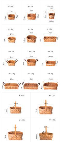 woodchip baskets