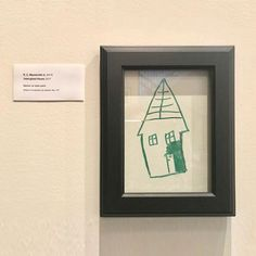 Funny Parents Turn Kid's Drawing on Wall into Framed Work of Art at Home