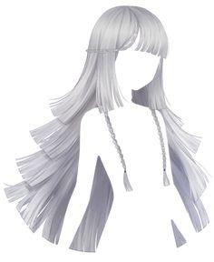 How To Draw Anime Hair, Manga Hair, Cute Kawaii Girl, Anime Girl Cute, Anime Girl Hairstyles, Pretty Hairstyles, Hair Reference, Art Reference Poses, Lolita Hair