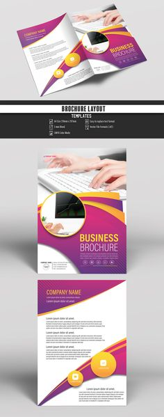 Brochure Cover Layout with Pink and Yellow Accents 2. Buy this stock template and explore similar templates at Adobe Stock | Adobe Stock  #Brochure #Business #Proposal #Booklet #Flyer #Template #Design #Layout #Cover #Book #Booklet #A4 #Annual #Report| Brochure template | Brochure design template | Flyers | Template | Brochures | Flyer Background | Background design | Business Proposal | Proposal Design | Booklet | Professional | Professional - Proposal - Brochure - Template