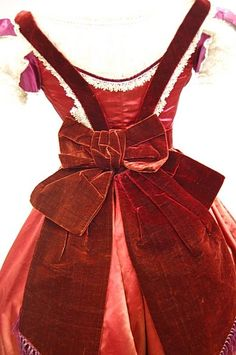 1229: A copper-red satin gown with day and evening bodi : Lot 1229