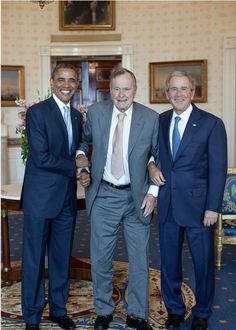 Former U. Presidents Barack Obama, George H. Bush and George Bush. How many people did these three kill in needless foreign interventions? Past Presidents, Black Presidents, Greatest Presidents, American Presidents, American History, First Black President, Mr President, Joe Biden, Durham