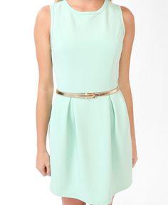 Ribbed Dress w/ Metallic Belt   FOREVER21 - 2020043196