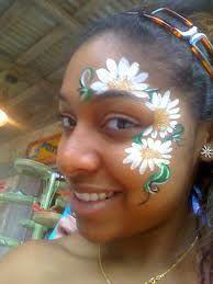 daisies around the eye painting