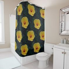 Yellow Rose Of Sharon Shower Curtain - home gifts ideas decor special unique custom individual customized individualized