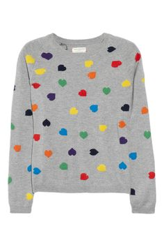 Chinti and Parker Heart-intarsia cashmere sweater - reminds me of a favorite t-shirt from my childhood (that one wasn't cashmere, of course)