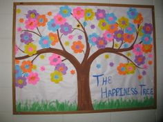 "Spring Happy Tree BB. They wrote what made them happy on the flowers. My favorite: ""Old Couples in Love""."