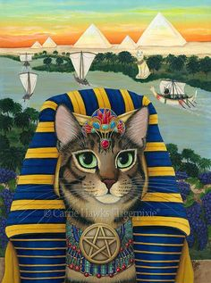"""Egyptian Pharaoh Cat"" par Carrie Hawks"