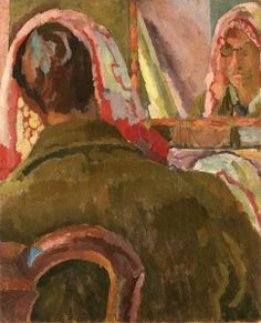 Duncan Grant in front of a Mirror - Vanessa Bell - The Athenaeum