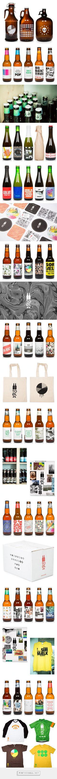 To Øl #beer designed by Kasper Ledet - http://www.packagingoftheworld.com/2015/03/to-l.html