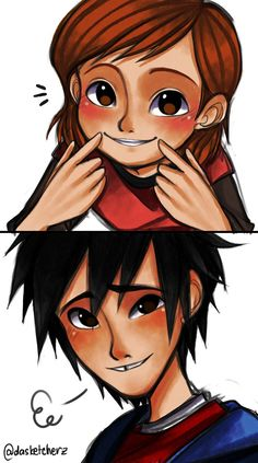 """Penny & Hiro: Smile - We all have that special someone who are the only ones that could actually make us smile in just a moment <3  """"There may be a hundreds of reasons to struggle but there is a thousands of reasons to smile anyway."""" C:   When Hiro gets a bad day, Penny just knows what to do with it. ;)"""