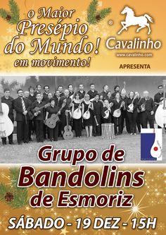 Sábado, 19 Dezembro pelas 15h00 venha até ao Maior Presépio do Mundo em movimento e assista ao concerto da Orquestra de Bandolins de Esmoriz. Visite-nos!