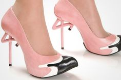 Show off your long legs and outrageously creative fashion style with a pair of these uniquely Kobi Levi Flamingo high heels. Anyone agile enough to stand on one leg for hours at a time while wearing these glossy leather pumps will be a perfect resemblance of the elegant, iconic pink flamingo.…