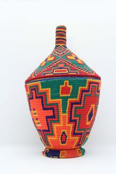 Vintage Moroccan Tribal Basket