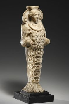 A Statuette of the Ephesian Artemis  H. 36.8 cm. Marble. Roman, mid-1st to 1st quarter of 2nd cent. A.D., and 18th century. Provenance : The Erotika Collection Christian von Faber-Castell, Kusnacht ZH, Switzerland.