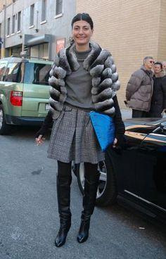 Giovanna Battaglia New York Fashion Week February 2009 - Chanel boots