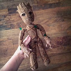 """I am GROOT"" lol. Awesome Groot crochet pattern by Allison Hoffman on Ravelry."