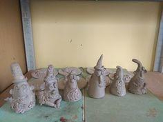 Keramika skřítci - práce předškoláků v kroužku keramiky. Decorative Bells, Home Decor, Decoration Home, Room Decor, Home Interior Design, Home Decoration, Interior Design