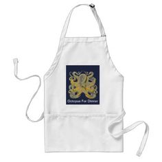 Octopus Vulgaris by Ernst Haeckel Adult Apron - decor gifts diy home & living cyo giftidea