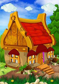Cartoon House, Cute Cartoon, Kindergarten, Preschool, Clip Art, Kitty, Art Prints, Painting, Image