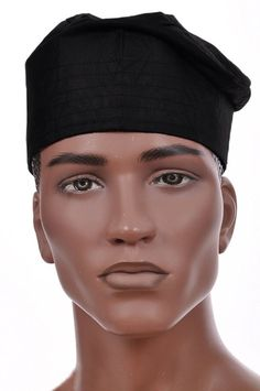 1842abd7969 Black African Cotton Kufi CottonMen s CapLength of hat is InchesMade in  NigeriaColor – Black Famous Words of Inspiration.