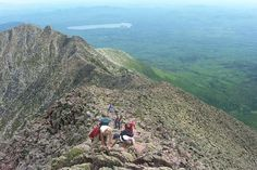 Knife Edge on Mt Katahdin .... It's quite a hike just to get there .