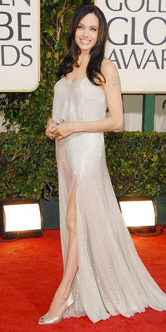 Angelina Jolie's Best Red Carpet Looks Ever - In Versace, 2009 from #InStyle