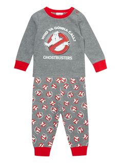 Make a spooky addition to their seasonal nightwear range with these Halloween-themed Ghostbusters pyjamas. Featuring an shoulder opening for easy changing. Kids grey Halloween Ghostbuster PJ set Cotton rich Cuffed hems Ghostbusters print Popper shoulder opening Long sleeves Keep away from fire