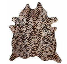 Kuhfell mit Leoparden Print Tapis en Peau de Vache Tappet...…