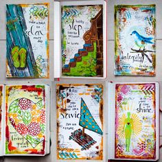 art journal ideas | ve enjoyed looking at others' art and trying to recreate it, too ...