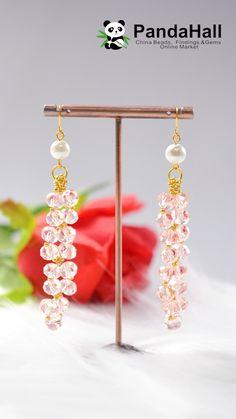 Wire Jewelry Designs, Handmade Wire Jewelry, Beaded Jewelry Patterns, Fabric Jewelry, Earrings Handmade, Diy Jewelry Videos, Jewelry Making Tutorials, Diy Schmuck, Schmuck Design
