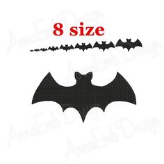 Bat Font Machine Embroidery 104 Designs 2 sizes