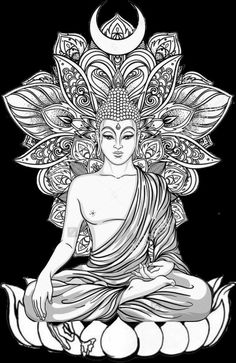 Dieses - Buddha - - Dieses – Buddha – You are in the right place about Dieses – Buddha – - Buddha Drawing, Buddha Painting, Buddha Art, Buddha Tattoo Design, Buddha Tattoos, Buddhism Tattoo, Tattoos Bein, Body Art Tattoos, Sleeve Tattoos