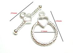925 Sterling Silver Round  HEART TOGGLE CLASPS Connector Beading Jewellery Supplies diy Bulk Wholesale Handmade by BeadingCastle on Etsy https://www.etsy.com/listing/386049710/925-sterling-silver-round-heart-toggle
