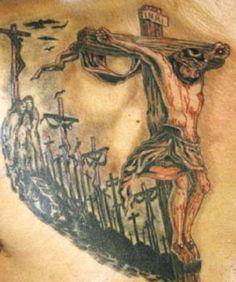 Crucifix Tattoo Designs For Men: The Realistic Crucifix Tattoo Ideas And Meaning For Men ~ tattooeve.com Tattoo Design Inspiration