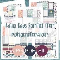 Rainy Days Sampler - Free Planner Printable