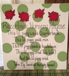 Razorback Nursery Rhyme canvas