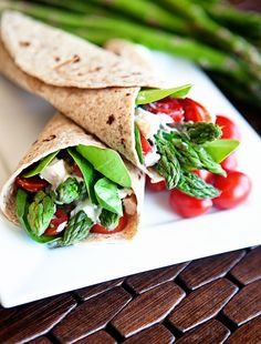Easy Chicken Asparagus Wraps