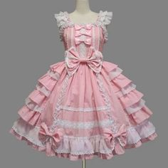 I found 'Handmade English Multilayer Pink Sweet Lolita Dress Sleeveless Lolita clothing (Made to Order)' on Wish, check it out!