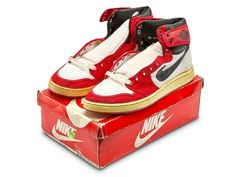 a297a1c2919 Details about NIKE AIR JORDAN HI I 1 WHITE BLACK RED CHICAGO AJKO ORIGINAL  OG 1985 ROYAL HIGH