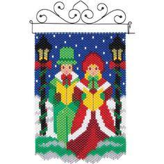 Herrschners® Christmas Carolers Mini Beaded Banner Kit