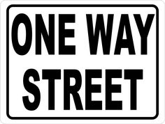 Help prevent accidents from vehicles going the wrong direction by posting this wrong way sign. Great for parking garages and other passages where traffic flows in one direction. One Way Street Sign, Street Signs, Give Me A Sign, Give It To Me, Storefront Signs, Construction Party, Three Words, New Sign, Signage