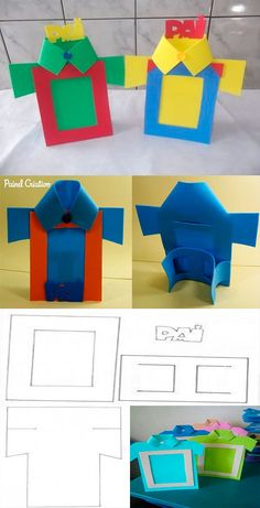 Molds to make a foamy portrait holder- Moldes para hacer un porta retrato de foamy Molds to make a foam… em 2020 Felt Crafts, Diy And Crafts, Crafts For Kids, Arts And Crafts, Paper Crafts, Fathers Day Art, Fathers Day Crafts, Daddy Day, Valentine's Cards For Kids